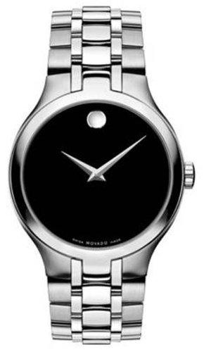 Movado orologio da uomo con cinturino e cassa in acciaio svizzero al quarzo, 0606367