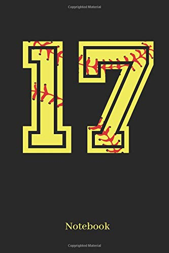 17 Notebook: Softball Player Jersey Number 17 Sports Blank Notebook Journal Diary For Quotes And Notes - 110 Lined Pages por Sporty Girl