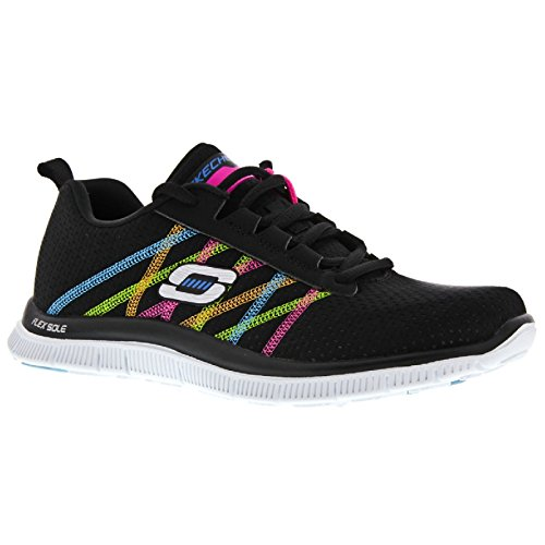 SkechersFlex Appeal Something Fun - Sneaker Donna Multicolore (Noir/Multicolore)