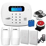 LPHPR WiFi GSM3G / 4G WiFi Alarme Maison sans Fil Extensible Anti Intrusion,pour Les Kits D'Alarme Antivol pour Les Particuliers Et Les Entreprises, pour Une Installation Facile