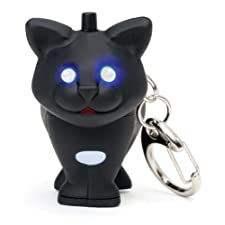 "Cat LED Keychain – with ""Meow"" sound & eyes that light up"