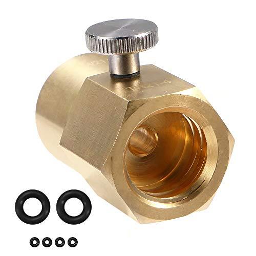 KingFurt W21.8 Stahl CO2 Adapter für Befüllung von Sodastream Soda Club Wassersprudler