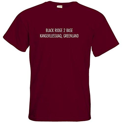 getshirts - Datacorp - T-Shirt - Black Ridge 2 Datacorp Burgundy