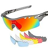 tsafrer Unisex Polarisiert Sport Sonnenbrille mit 6austauschbaren