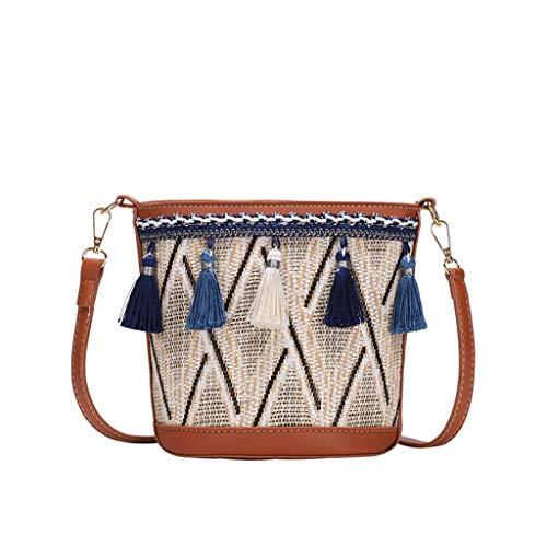 OIKAY Mode Damen Tasche Handtasche Schultertasche Umhängetasche Mode Neue Handtasche Frauen Umhängetasche Schultertasche Strand Elegant Tasche Mädchen 0605@059