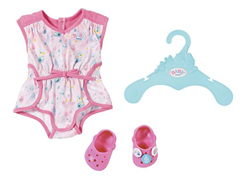 Zapf Creation 824634 Baby Born Shorty Pyjama mit Clogs, bunt