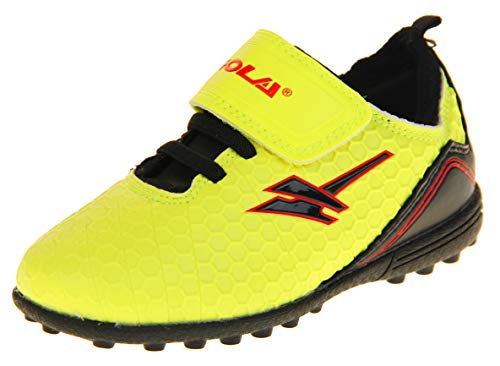 on sale 24359 9a0f3 Boys Gola Astro Turf Kids Sports Pitch Touch Fastening Lace Up Shoes  Football Trainers Yellow Volt