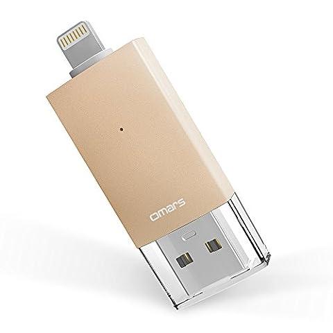Clé USB iPhone 64Go [Certifié Apple MFi] OMARS Mémoire Externe Clef USB 3.0 d