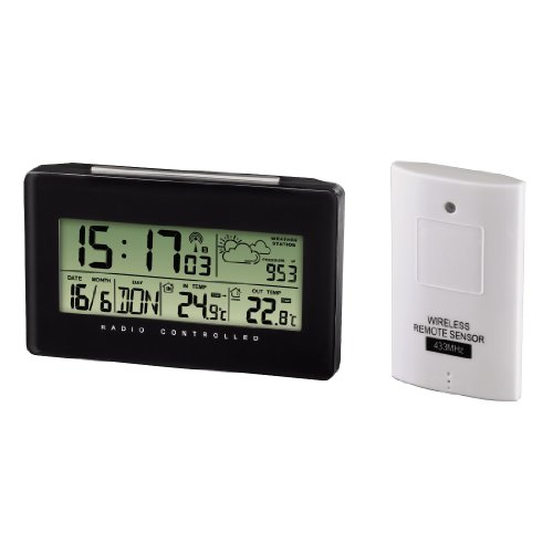 """Hama Elektronische Wetterstation """"EWS-430"""", mit Funkuhr, Datum und Wecker"""