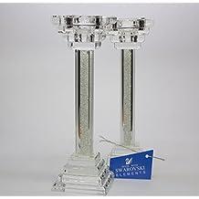 Set von 2Swarovski Kristall gefüllt Teelichthalter Kerzenhalter Kerzenständer
