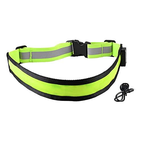 likeitwell LED Gürtel LED Reflektierenden Gürtel USB Wiederaufladbare Leuchtende Blitz Band mit Reflektierenden Streifen für die Nacht Laufen Jogging-Walking Hunde Klettern