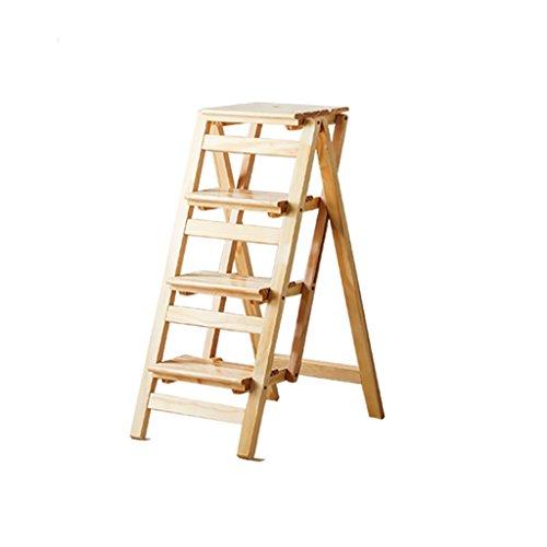 LIZITD Schritthocker, Massivholz europäischen Stil Einfach, Mehrzweck-Dual-Use-Falten Haushalt...