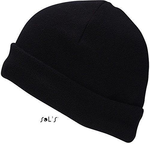Preisvergleich Produktbild SOLS Damen Herren Beanie Fleece Hat Serpico Schwarz Black 55