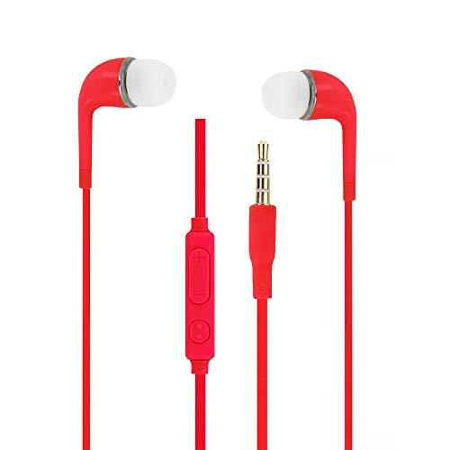 Unbekannt Kopfhörer, Rot, hohe Qualität, Audio, In-Ear-Silikon, sehr komfortabel,...