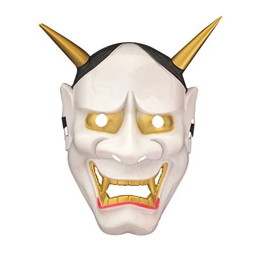Tea Party Kostüm Tanz - Böse Maske Maskerade Cosplay Maske für Festliche Halloween Accessoires für Frauen/Männer, Maskerade Masken, Tea Party, Tanz, Performances, etc,Weiß