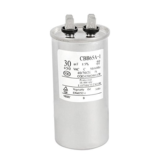 SODIAL (R) Ersatzteile 30uF 450V AC Motor Kondensator fuer Klimaanlage Motor