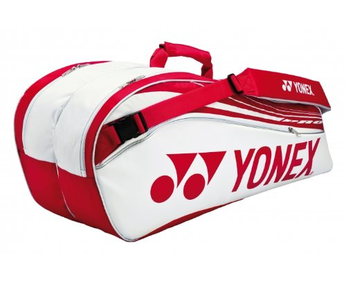 Yonex Tennistasche Pro Thermobag 10er, 78 x 25 x 34.5 cm - Weiß/Rot