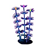 Lorsoul Multicolor Artificiale Coral Silicone impianto Fish Tank Decoration Fluorescente Piante Acquario Acqua Erba