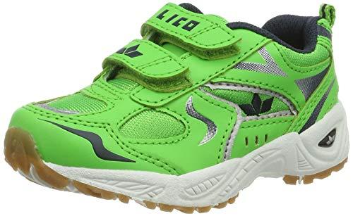 Lico bob v, scape per sport indoor unisex-bambini, verde grün/marine/weiss, 35 eu
