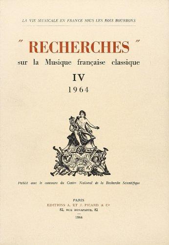 recherches-sur-la-musique-franaise-classique-volume-4-1964