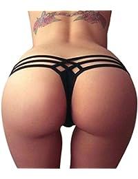 Mujeres Tanga brasileña, CICIYONER Imprimir Bikini Bottom Bañarse Playa Ropa interior
