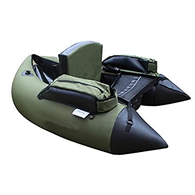 Z&HAO Professional Inflatable Fishing Catamaran PVC Rubber Boat For Fishing Kayak 1 Person Inflatable Fishing Chair Single Rowing Boat by Z&HAO