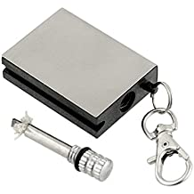 Preyank Solar Zippo Flint Refillable Cigarette Fire Lighter and Key-Chain Worlds Smallest and Thinnest Matches Box 2Pcs