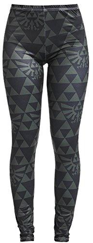 The-Legend-of-Zelda-Black-And-Green-Triforce-Leggings-schwarzgrn