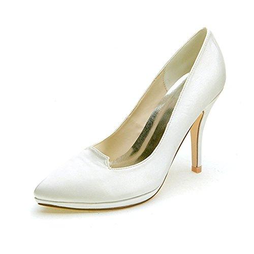 L@YC Tacchi alti delle donne indicato primavera / autunno Stretch Wedding / Party & Evening di seta Champagne