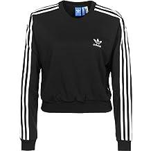 adidas 3S Crop Sweater Sudadera, Mujer, Negro (Black), 36