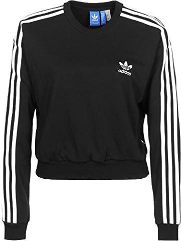 adidas BJ8173 Sweat-Shirt Femme, Noir, FR : 36 (Taille Fabricant : 36)