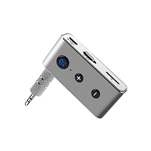 Pegcdu Grau Bluetooth-Freisprecheinrichtung Car Audio-Empfänger FM-Transmitter-TF-Karte MP3-Player AUX Adapter