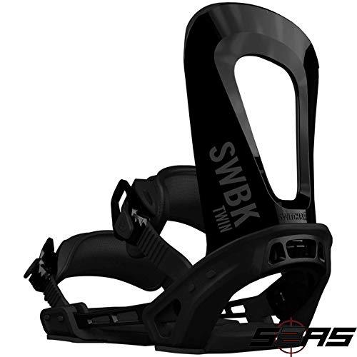 Switchback 2019 Twin Snowboard-Bindung (schwarz), XS-M (UK 3-7) -