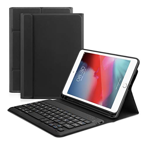 Fansteck Bluetooth Tastatur Hülle kompatibel mit ipad Mini 4/5