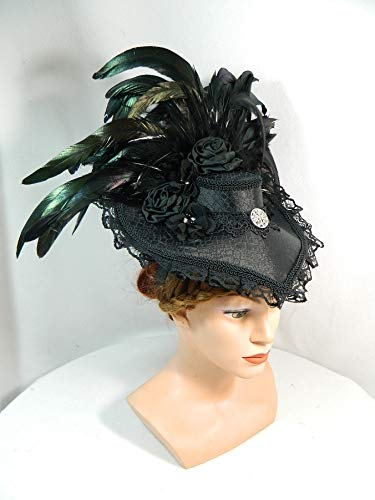 arz Viktorianisch Gothic Marie Antoinette Fascinator Kopfschmuck Karneval Witwe ()