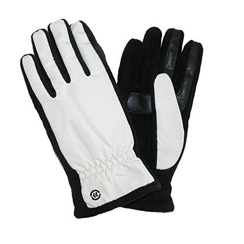 Isotoner Nylon-handschuhe (Totes ISOTONER WoHerren Nylon SmarTouch Winterhandschuhe, Elfenbein, XL)