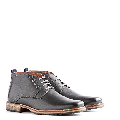 Travelin' London Leder Chukka Boots | Business Schuhe mit Schnürsenkel | Grau EU 40
