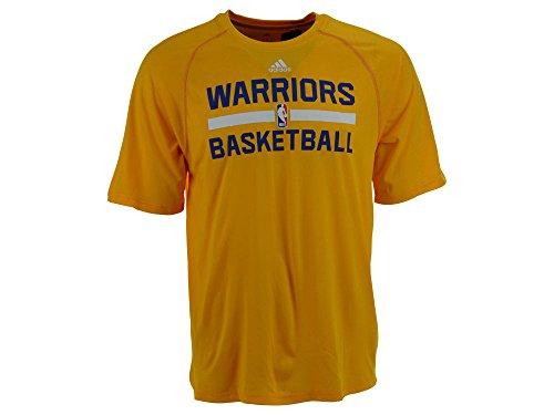 Golden State Warriors Gold Adidas ClimaLite Praxis Short Sleeve T-Shirt, Herren damen Kinder, gold -