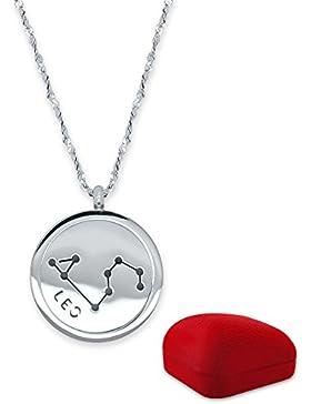 SoulCats® Sternzeichen Halskette 50cm aus Edelstahl in silber mit Geschenkverpackung. Horoskop Tierkreiszeichen...