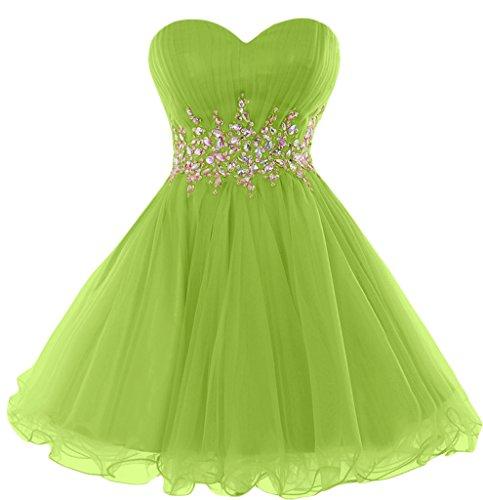 Sunvary-Cartamodello per vestiti da sera, senza Bridesmaid asimmetrico Gowns Lime