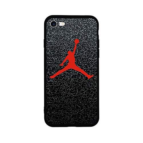 1 Stück New Fashion Sport Fun Jordan Air Jump Man Weiche TPU Silikon Schutzhülle für iPhone 6 6S Plus 8 8 Plus 7 7 7 Plus X 5 5S SE Handyhülle for iPhone 7 or 8 TPU JORDN RED DARK Jordan Fashions