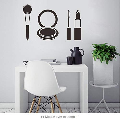 ytwww123 Wand-Dekor Aufkleber Aufkleber Mode Lippenstift Make-Up Mädchen Gesicht Frau Aufkleber Muraux Wand-Dekor Muursticker Adesivi Murali