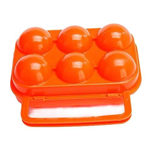 Fliyeong Tragbare Eierhalter Kunststoff 6 Grids Eier Fall Egg Protector Eierablage Träger Container für Outdoor Storage Picknickgebrauch 1 Stücke -