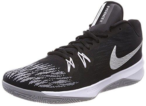 newest 5c802 da78d Nike Herren Zoom Evidence Ii Basketballschuhe, Schwarz (Blackmetallic  Silverwhitewo 001), 43 EU