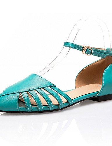 LFNLYX Scarpe Donna-Sandali-Tempo libero / Formale / Casual-Comoda / D'Orsay / A punta-Piatto-PU-Verde / Bianco / Tessuto almond Green