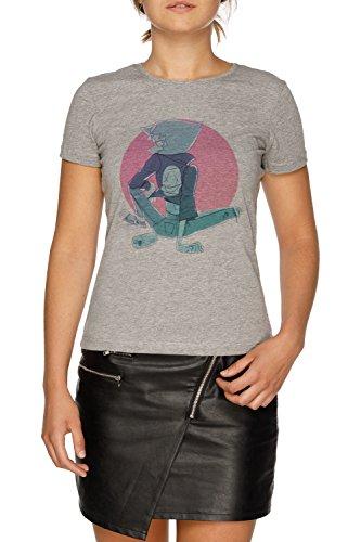 Jergley Letzte Ein aus von Strand Stadt Damen Grau T-Shirt Größe L | Women's Grey T-Shirt Size L (Letzte Out T-shirt)