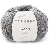 Katia lagom FB. 105 – Gris Oscuro, 50 g Lana de Merino con algodón