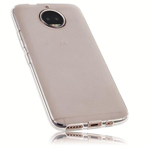 mumbi Schutzhülle für Motorola Moto G5S Plus Hülle transparent weiss