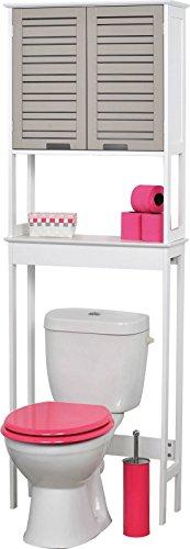 Mueble para baño WC - 2 puertas y 1 estante - Mueble de diseño