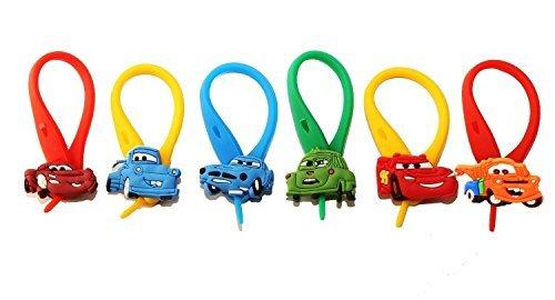 AVIRGO Colorato Soft Zipper Pull Pendaglio di Zaino di Giacca 6 pezzi Set # 23 -4
